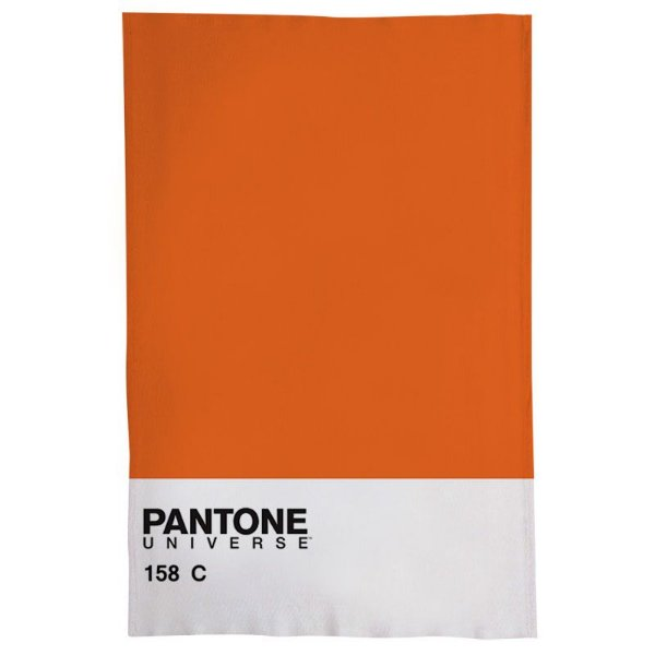 Pano De Prato Descorativo Nerderia e Lojaria pantone laranja colorido