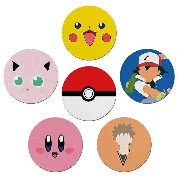 Porta Copos Nerderia e Lojaria pokemon colorido