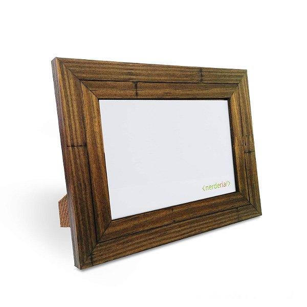 Porta Retrato 10x15 cm Nerderia e Lojaria moderno madeira demolicao madeira