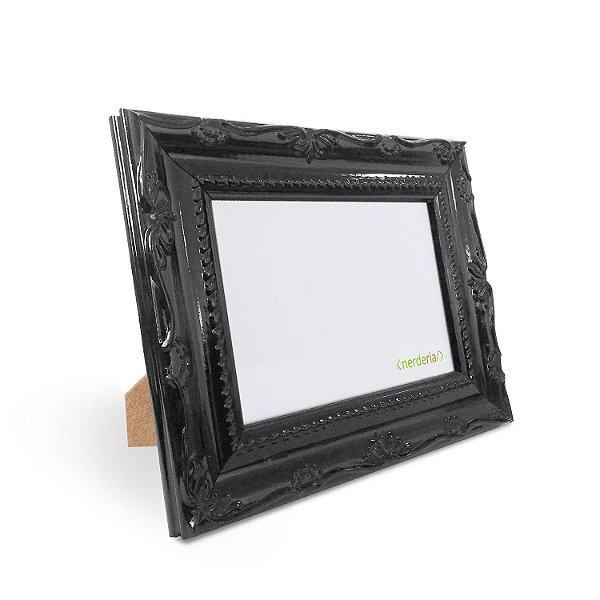 Porta Retrato 10x15 cm Nerderia e Lojaria Retro preto preto