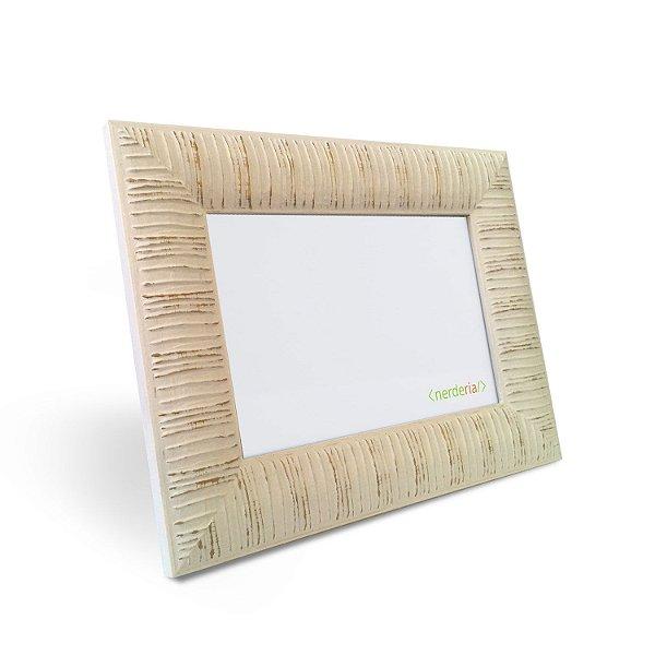 porta Retrato 15x21 cm Nerderia e Lojaria africano linhas madeira