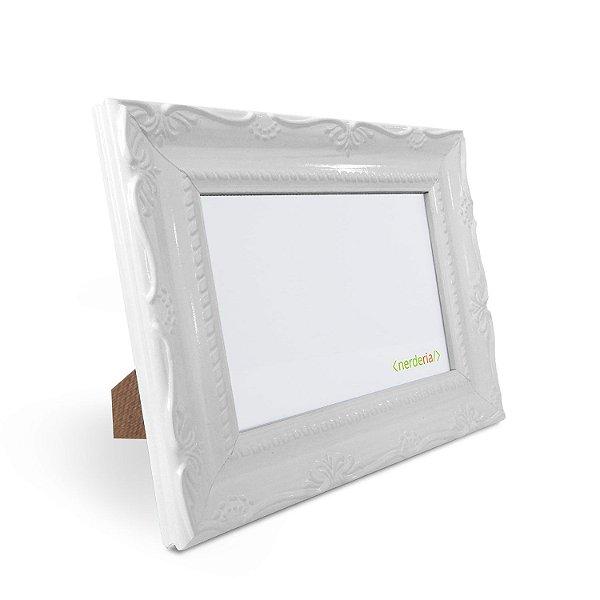 porta Retrato 15x21 cm Nerderia e Lojaria Retro branco branco