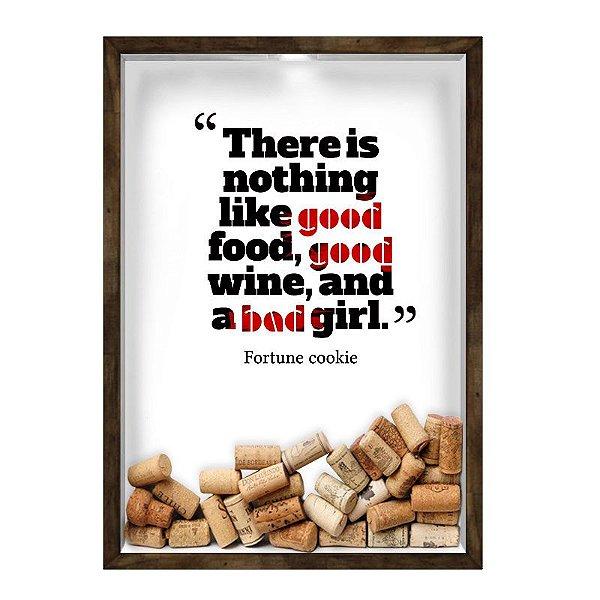 QUADRO 33X43  PORTA ROLHA DE VINHO Nerderia e Lojaria vinho good wine madeira