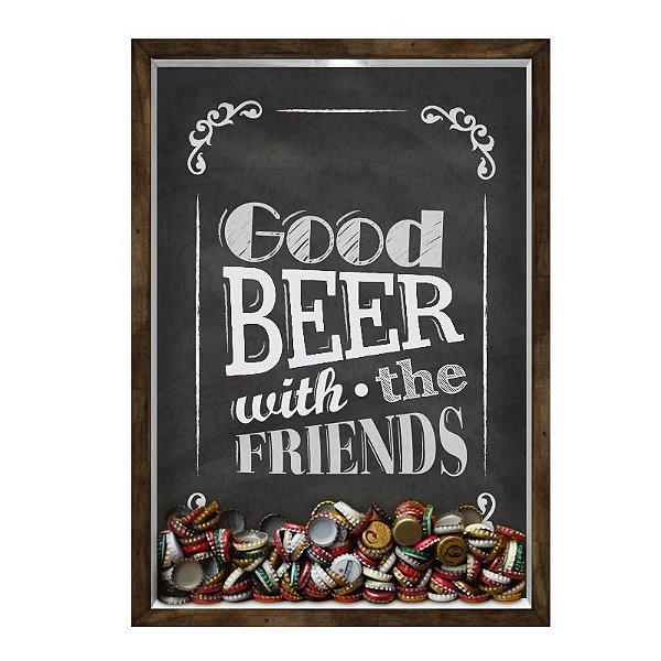 QUADRO 33X43  PORTA TAMPINHA CERVEJA Nerderia e Lojaria cerveja good beer madeira