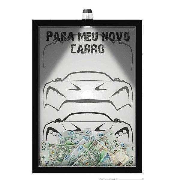 Quadro Caixa  COFRE 33x43 cm (Com Led) Lojaria e Nerderia. _car8 preto