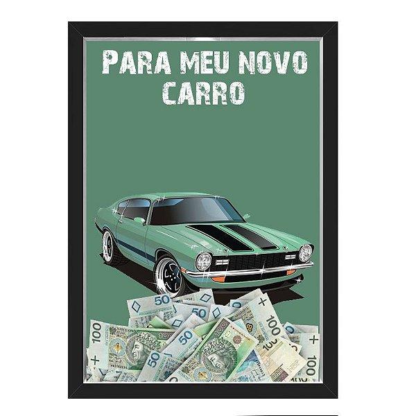 Quadro CAIXA COFRE 33x43 cm NERDERIA E LOJARIA car1 preto