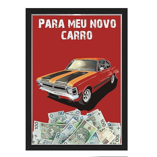 Quadro CAIXA COFRE 33x43 cm NERDERIA E LOJARIA car2 preto