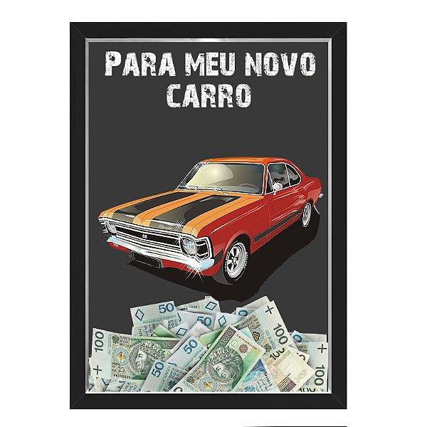 Quadro CAIXA COFRE 33x43 cm NERDERIA E LOJARIA car3 preto