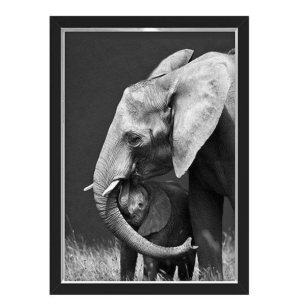 QUADRO CAIXA 33X43  NERDERIA E LOJARIA elefante kid preto