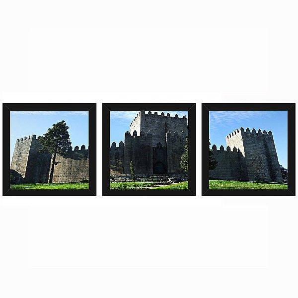 Quadro 23x23 (3 und.) Nerderia Lojaria Castelo de Guimarães preto