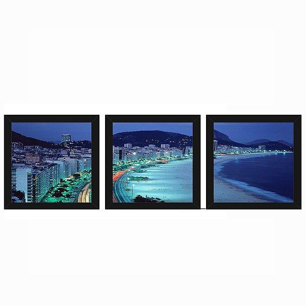 Quadro 23x23 (3 und.) Nerderia Lojaria Copacabana preto