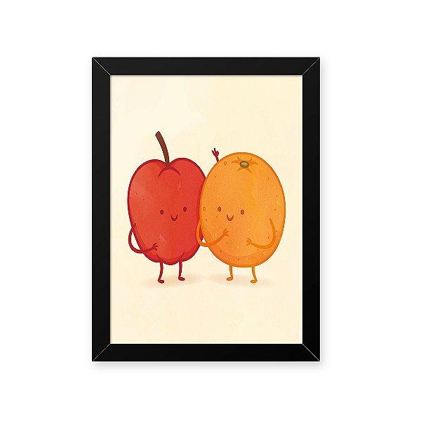 Quadro Decorativo 23x33cm Nerderia e Lojaria amizade frutas preto