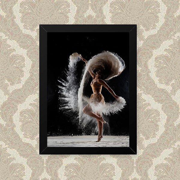 Quadro Decorativo 23x33cm Nerderia e Lojaria dança poeira preto