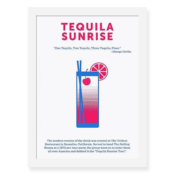 Quadro Decorativo 23x33cm Nerderia e Lojaria drinks tequila preto