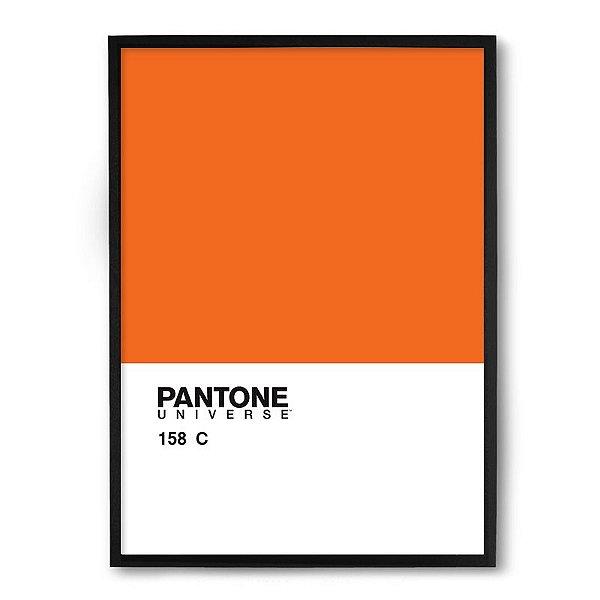 Quadro Decorativo 23x33cm Nerderia e Lojaria pantone laranja preto