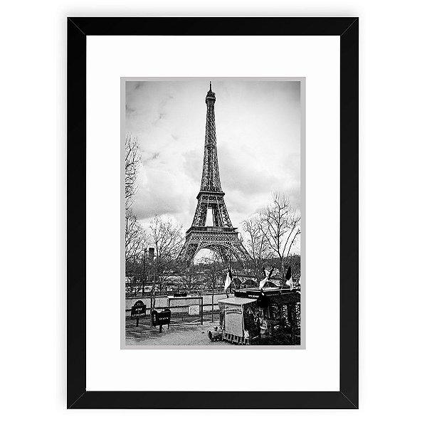 Quadro Decorativo 23x33cm Nerderia e Lojaria Paris 03 preto