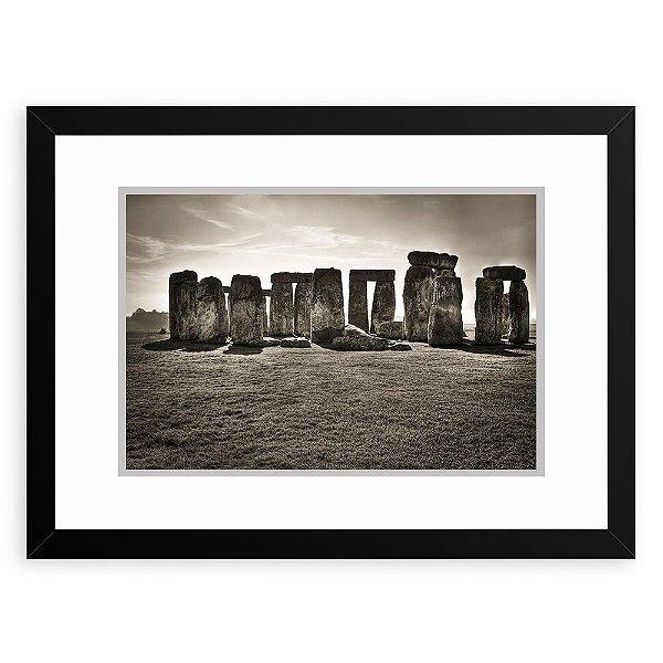 Quadro Decorativo 23x33cm Nerderia e Lojaria Stonehenge preto
