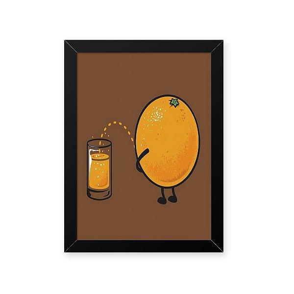 Quadro Decorativo 23x33cm Nerderia e Lojaria suco de laranja preto