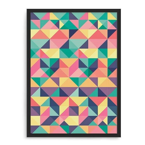 Quadro Decorativo 33x43cm Nerderia e Lojaria geometrica 11 preto