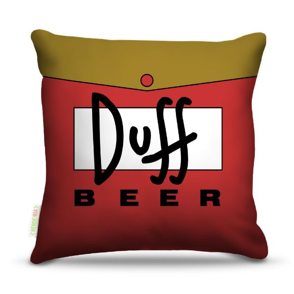 Almofada 45 x 45cm  Nerderia e Lojaria bebidas duff beer colorido