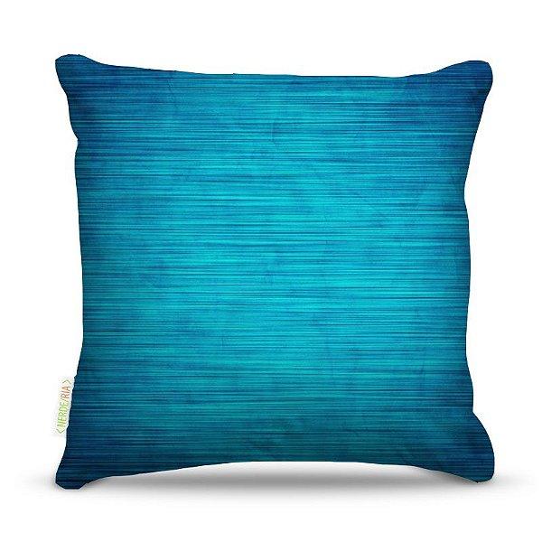Almofada 45 x 45cm  Nerderia e Lojaria blue wood colorido