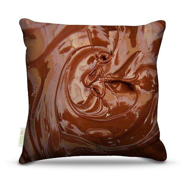 Almofada 45 x 45cm  Nerderia e Lojaria chocolate derretido colorido