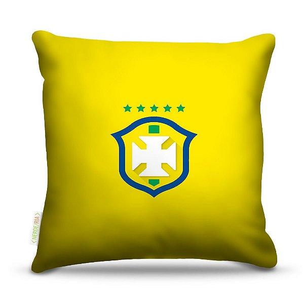 Almofada 45 x 45cm  Nerderia e Lojaria eleção brasileira colorido