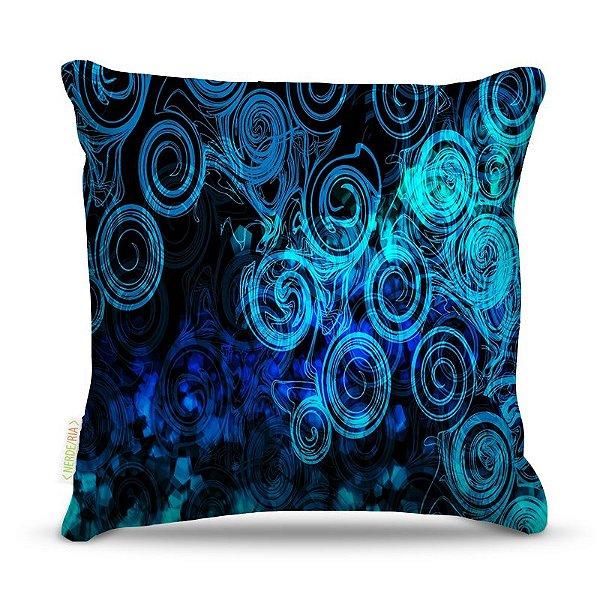 Almofada 45 x 45cm  Nerderia e Lojaria esferas blue colorido