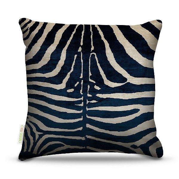 Almofada 45 x 45cm  Nerderia e Lojaria zebra azul colorido