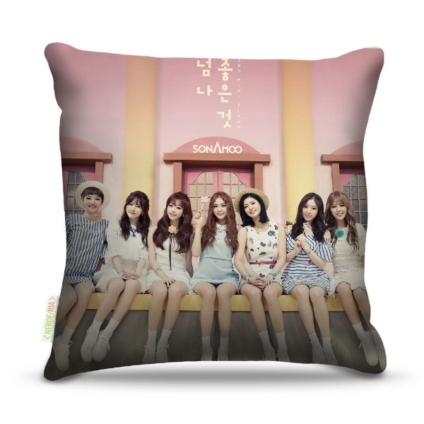 Almofada 45 x 45cm  Nerderia e Lojaria pop sonamoo coreanas colorido
