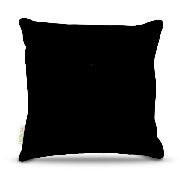 Almofada 45 x 45cm  Nerderia e Lojaria preto colorido