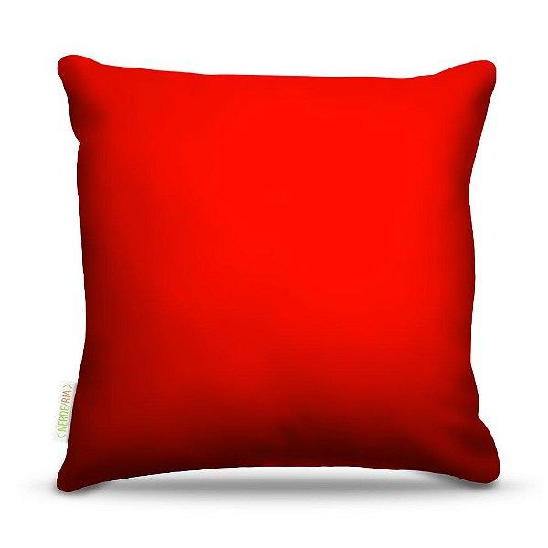 Almofada 45 x 45cm  Nerderia e Lojaria vermelho colorido