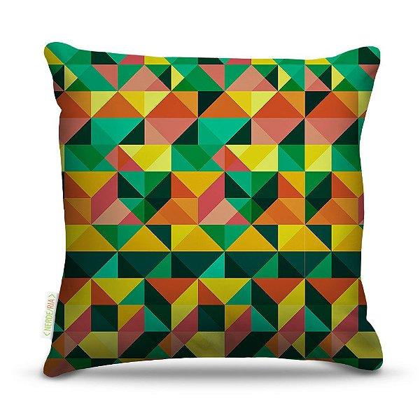 Almofada 45 x 45cm  Nerderia e Lojaria geometrica09 verde colorido