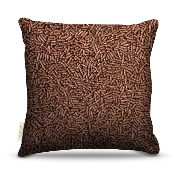 Almofada 45 x 45cm  Nerderia e Lojaria granulado colorido