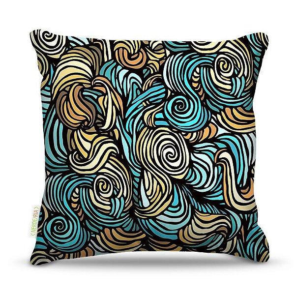 Almofada 45 x 45cm  Nerderia e Lojaria ondas colorido