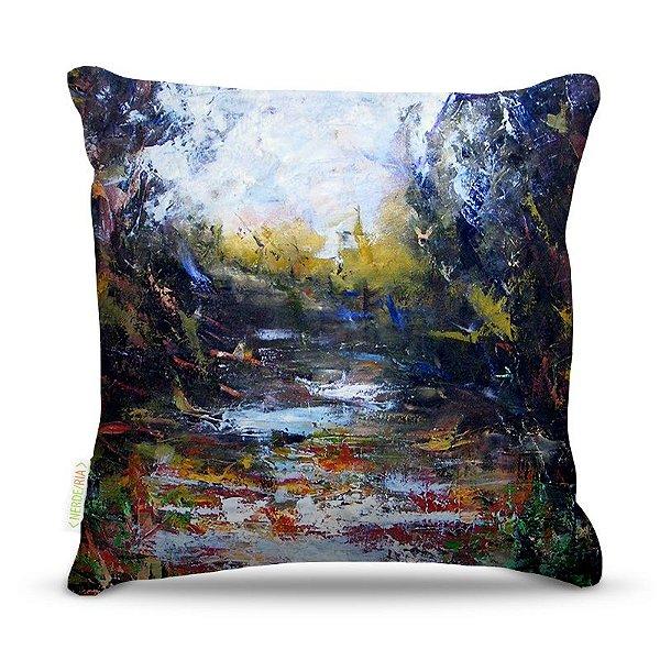 Almofada 45 x 45cm  Nerderia e Lojaria paint lagon colorido