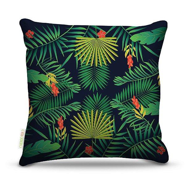 Almofada 45 x 45cm  Nerderia e Lojaria palmeiras tropicais colorido