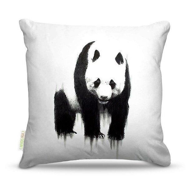 Almofada 45 x 45cm  Nerderia e Lojaria panda aquarela colorido