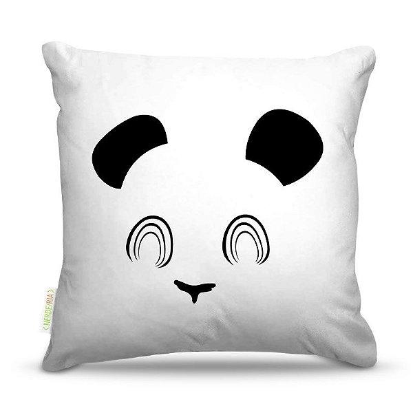 Almofada 45 x 45cm  Nerderia e Lojaria panda minimalista colorido