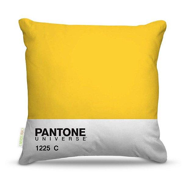 Almofada 45 x 45cm  Nerderia e Lojaria pantone amarelo colorido