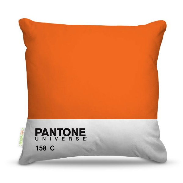 Almofada 45 x 45cm  Nerderia e Lojaria pantone laranja colorido