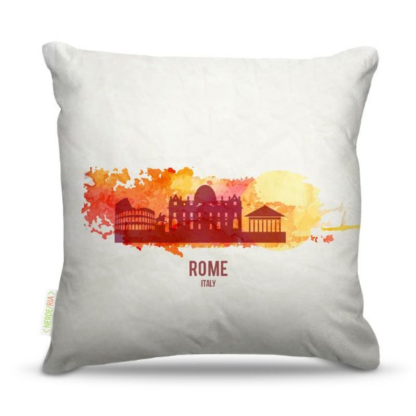 Almofada 45 x 45cm  Nerderia e Lojaria rome paint colorido