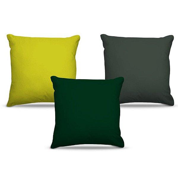 Combo de almofadas 45 x 45 cm (3und.) Nerderia e Lojaria cores escuras colorido