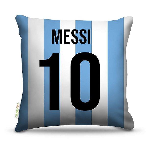 Almofada 40 x 40cm Nerderia e Lojaria argentina camisa 10 colorido