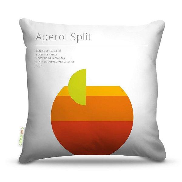 Almofada 40 x 40cm Nerderia e Lojaria bebida aperol split colorido
