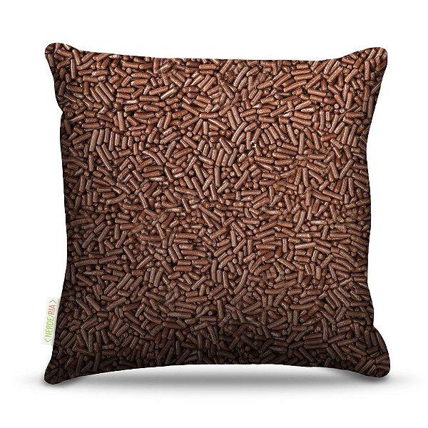 Almofada 40 x 40cm Nerderia e Lojaria granulado colorido