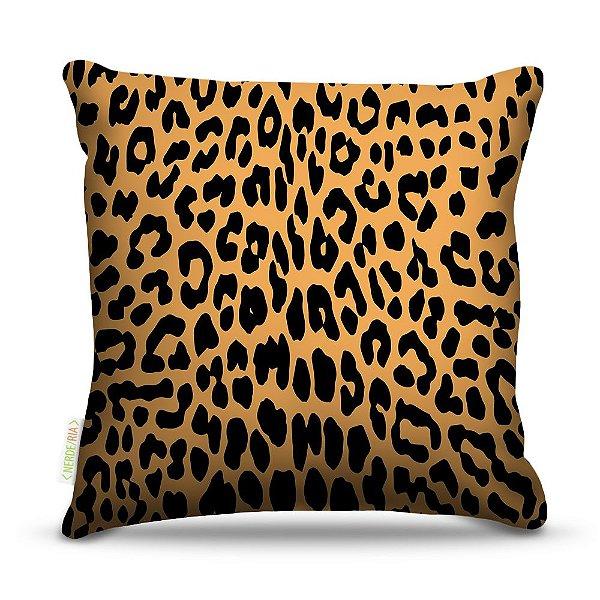 Almofada 40 x 40cm Nerderia e Lojaria leopardo pele colorido