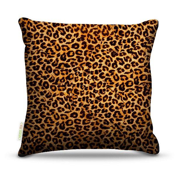 Almofada 40 x 40cm Nerderia e Lojaria leopardo skin colorido