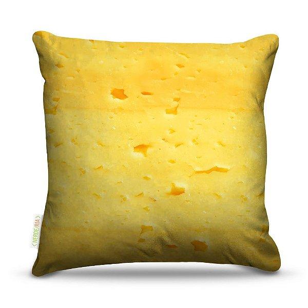 Almofada 40 x 40cm Nerderia e Lojaria queijo colorido