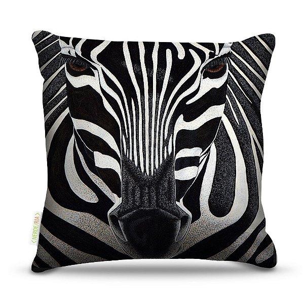 Almofada 40 x 40cm Nerderia e Lojaria zebra colorido